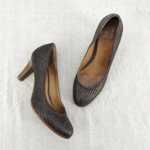 CORSO COMO x Anthropologie Chocolate Woven Heels